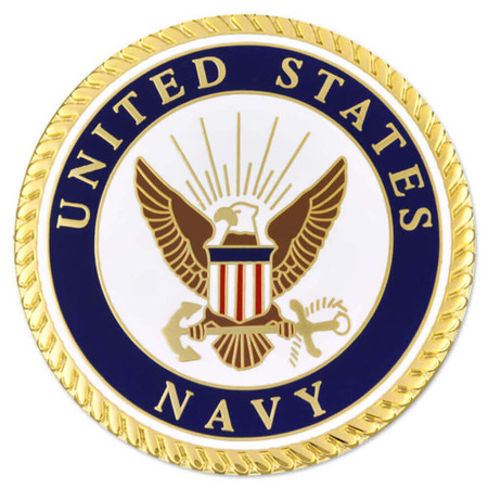 Large U.S. Navy Pin Front