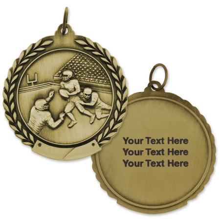 Football Metal Engravable Gold