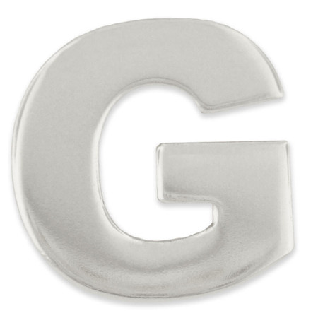 Silver G Pin Front