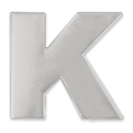 Silver K Pin Front