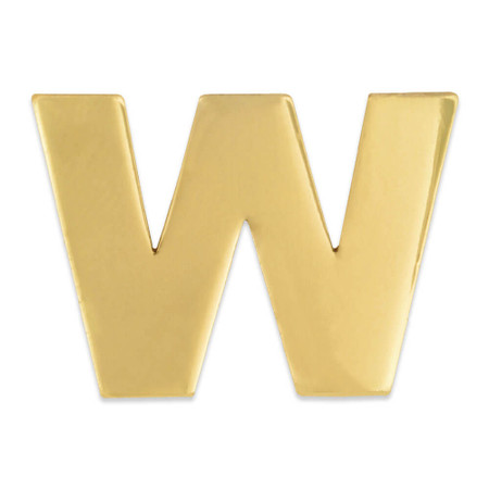 Gold W Pin Front