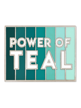Power Of Teal Pin Front