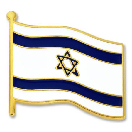 Israel Flag Pin Front