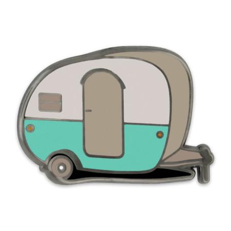 Retro Camper Pin Front