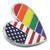 Gay Pride USA Heart Pin Side