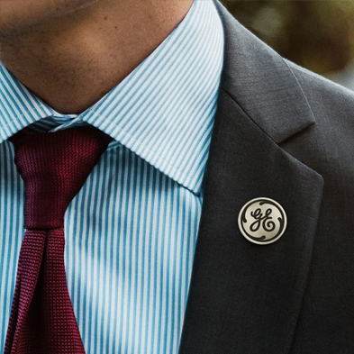 Laser pin on Suitcoat
