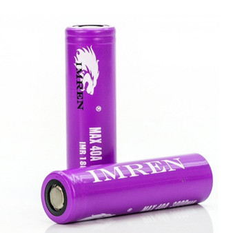 IMREN 18650 3000mAh 40A Battery (Pack of 2)