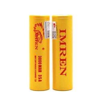 IMREN 18650 3000mAh 15A/35A Battery (Pack of 2)
