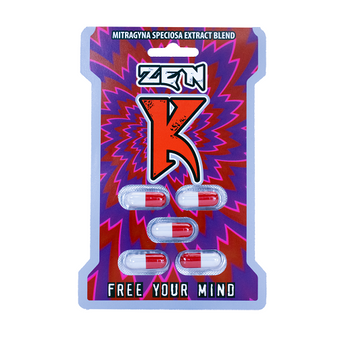 Zen K Kratom Capsule Blister Packs