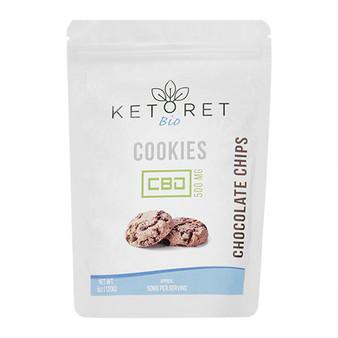 Ketoret Bio CBD Chocolate Chip Cookies 500mg (10x Pack)