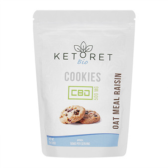 Ketoret Bio CBD Oatmeal Raisin Cookies 500mg (10x Pack)