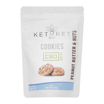 Ketoret Bio CBD Peanut Butter & Nuts Cookies 500mg (10x Pack)