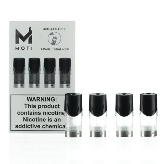 MOTI Vape Refillable Replacement Pod Cartridges (Pack of 4)