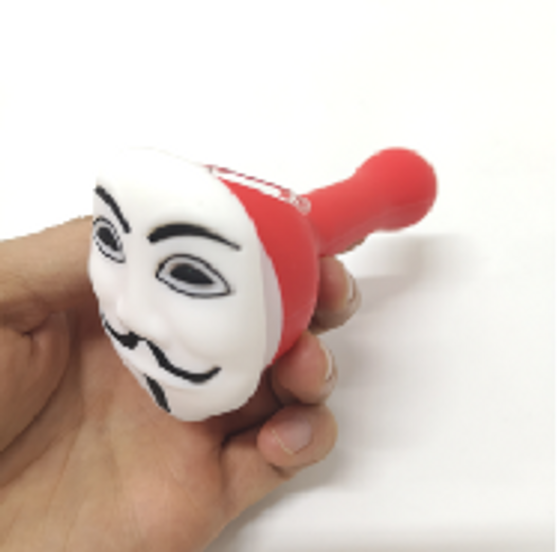 Guy Fawks Silicone Pipe