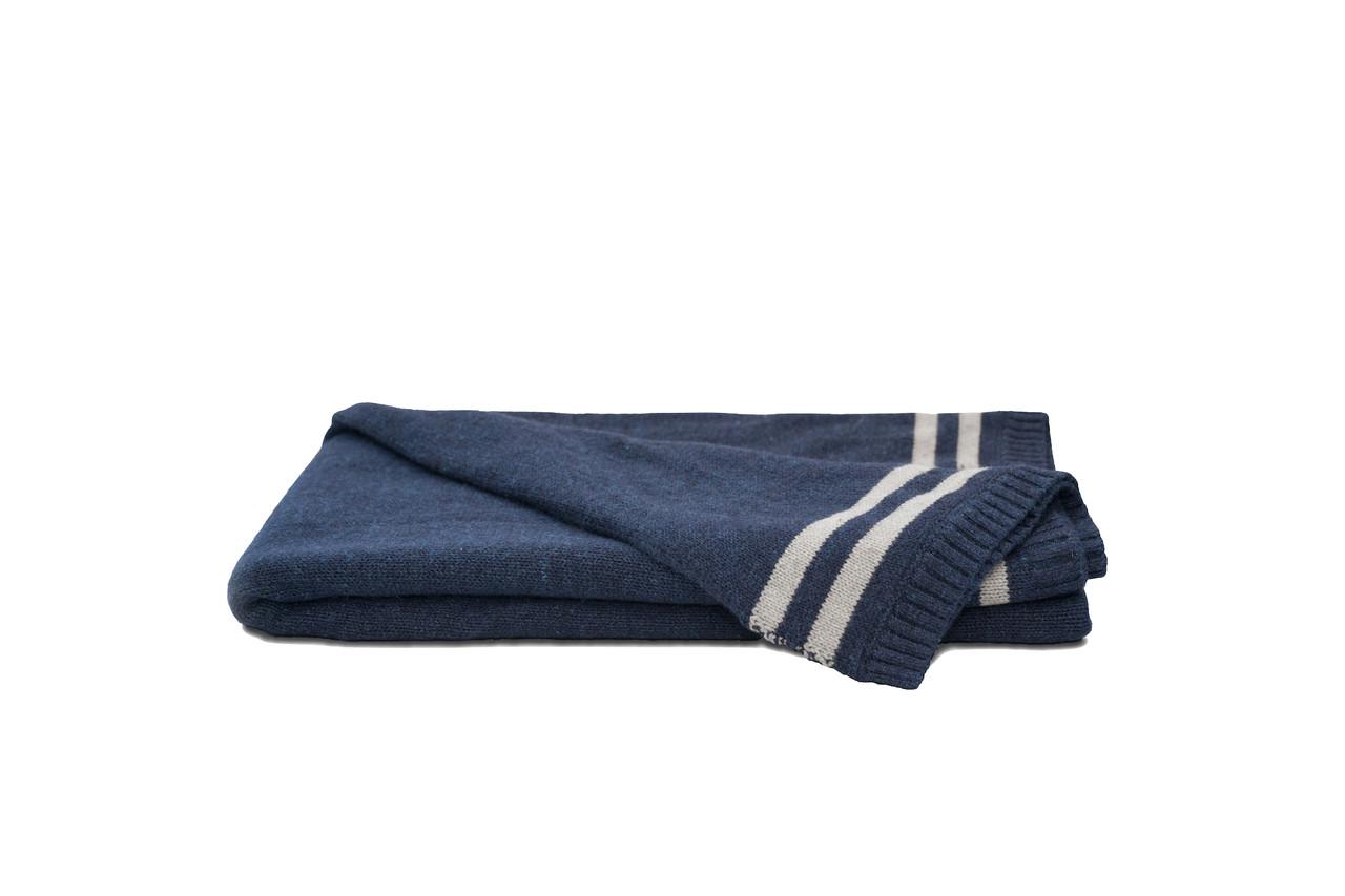 bd8c006ef4f6 100% Finest Silk Throws   Luxury & Soft Lounge Throw Blanket, Navy Blue