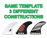 Same Futures Fin Template - 3 Different Constructions. How Will They Ride?!?