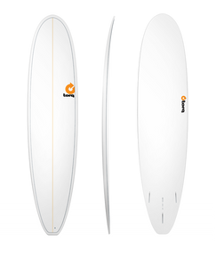"8'0"" TORQ MINI LONGBOARD WHITE PINLINE NEW SURFBOARD"