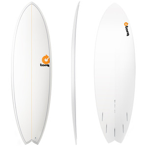 "6'10"" TORQ EPOXY MOD FISH WHITE PINLINE NEW SURFBOARD"