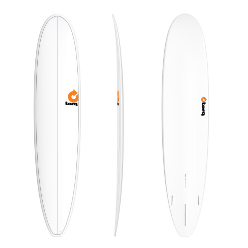 "9'0"" TORQ EPOXY LONGBOARD WHITE PINLINE NEW SURFBOARD"