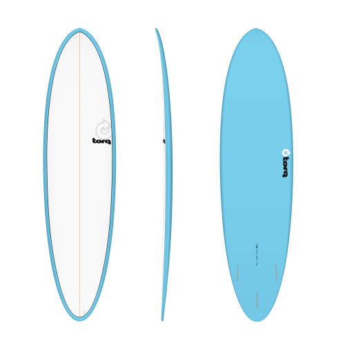 "7'2"" TORQ MOD FUN BLUE/WHITE NEW SURFBOARD"