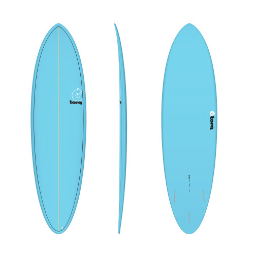 "6'8"" TORQ EPOXY MOD FUN BLUE PINLINE NEW SURFBOARD"