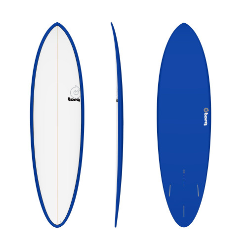 "6'8"" TORQ EPOXY MOD FUN NAVY/WHITE NEW SURFBOARD"