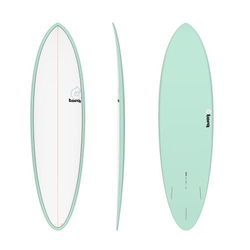 "6'8"" TORQ EPOXY MOD FUN SEAGREEN/WHITE NEW SURFBOARD"