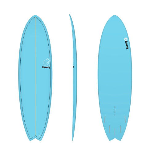 "6'6"" TORQ EPOXY MOD FISH BLUE PINLINE NEW SURFBOARD"