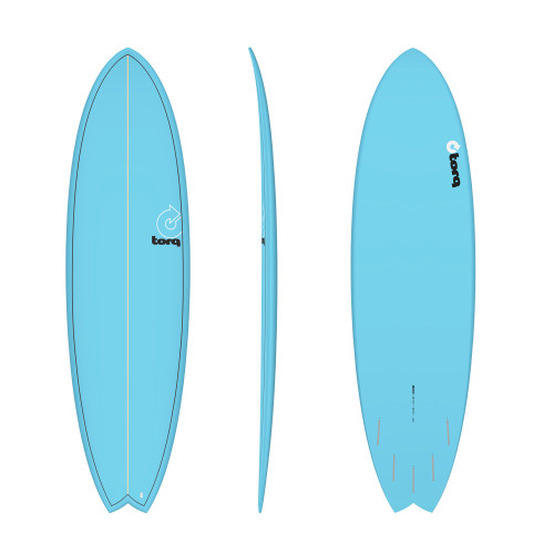 "6'10"" TORQ EPOXY MOD FISH BLUE PINLINE NEW SURFBOARD"
