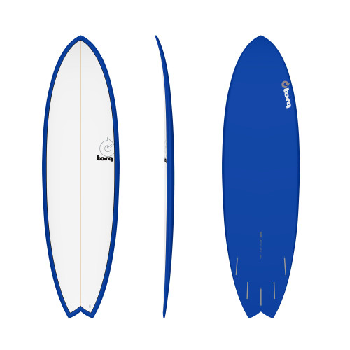 "6'10"" TORQ EPOXY MOD FISH NAVY/WHITE NEW SURFBOARD"