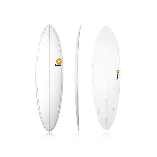 "6'8"" TORQ EPOXY MOD FUN WHITE PINLINE NEW SURFBOARD"