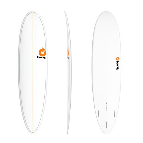 "7'6"" TORQ EPOXY MOD FUN WHITE PINLINE NEW SURFBOARD"