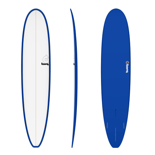 "9'0"" TORQ EPOXY LONGBOARD NAVY/WHITE NEW SURFBOARD"