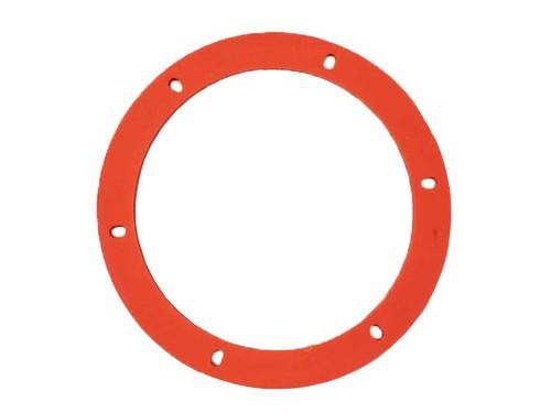 "Orange Silicone Combustion Motor Mounting Gasket - 6"" Round (15-1032)"