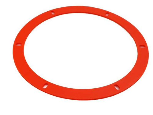 "Orange Silicone Combustion Blower Gasket - 7"" (15-1035)"