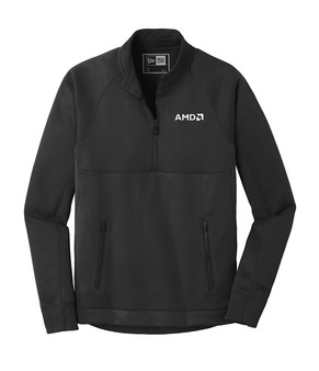 New Era Venue Fleece 1/4-Zip Pullover-Black