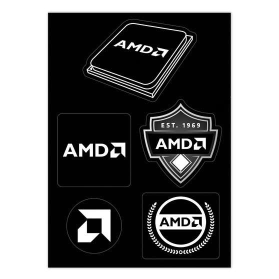AMD Brand Sticker Sheet