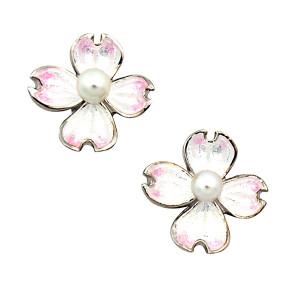 Dogwood Flower Stud Earrings