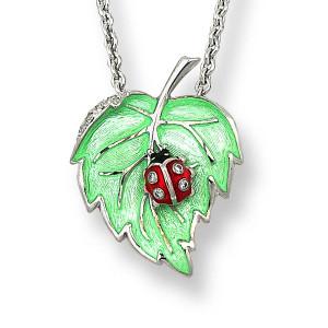 Leaf-Ladybug Necklace