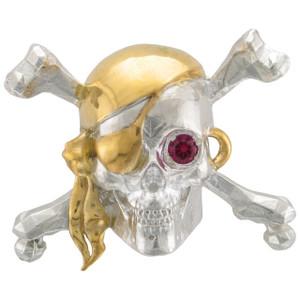 Jolly Roger Multi w/stone SS/24k Vermeil