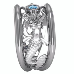 Sea Mist Mermaid Ring