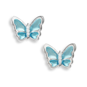 Butterfly Post earrings in Sterling Silver