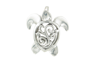 Sterling Silver Filigree Turtle Pendant