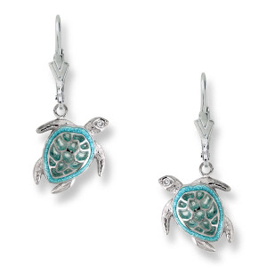 Sea Turtle Wire Earrings