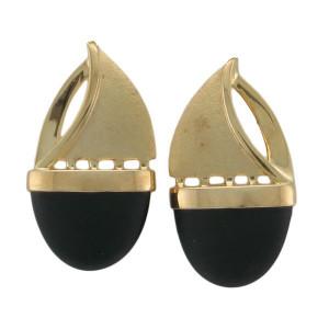 Sailboat Post Earrings w/Black Onyx