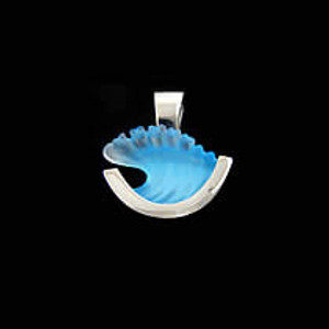 Sterling Silver Small Wave Pendant