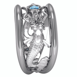 Sea Mist Mermaid Ring