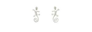 Gecko Earrings in Sterling Silver