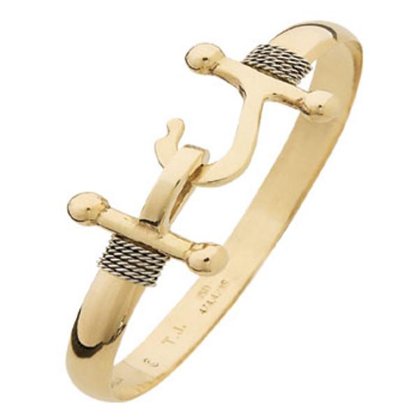 14K Y&W Gold Armada Hook Bracelet