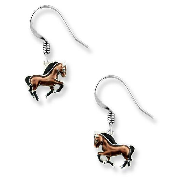 Sterling Silver Horse wire earrings